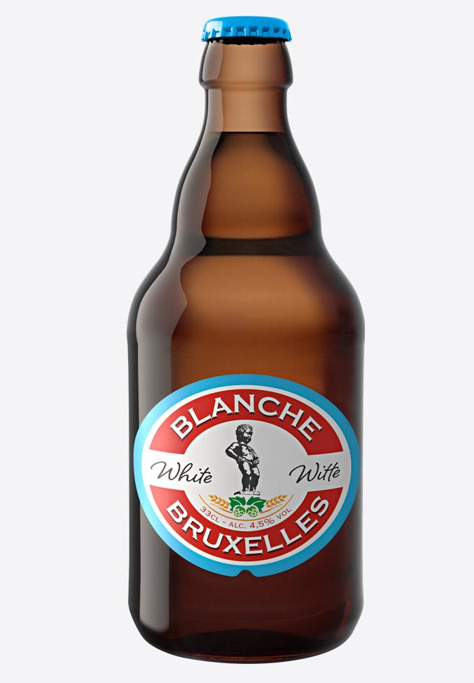 Пиво Blanche de Bruxelles обновленный дизайн