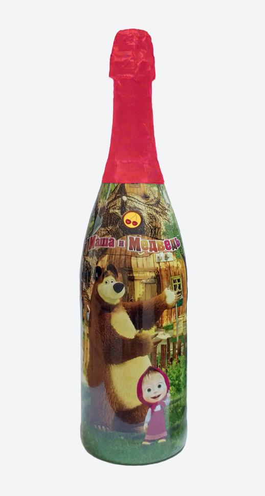 """Вишневое детское шампанское """"Маша и Медведь"""""""