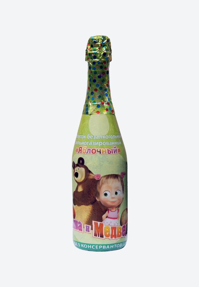 Яблочное детское шампанское Маша и Медведь
