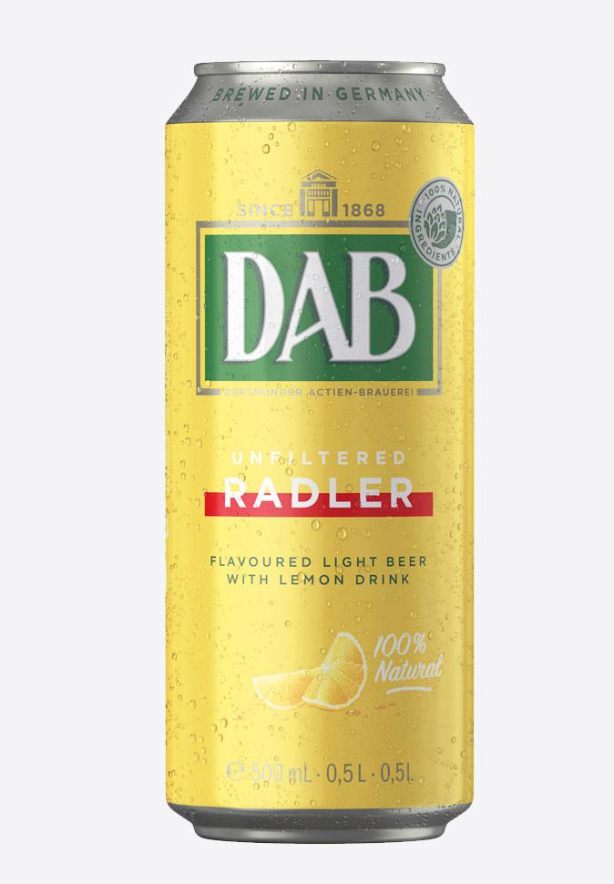 Пивной напиток DAB Radler (ДАБ Радлер)