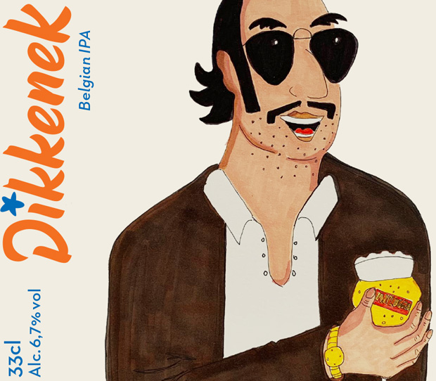 Этикетка пива Диккенек